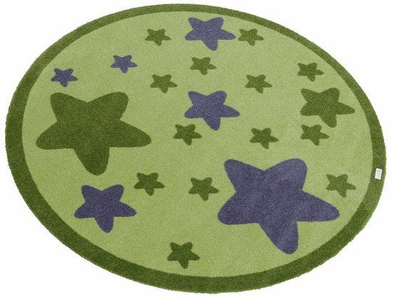 Kinderteppich »Sterne«, Zala Living, rund, Höhe 7 mm