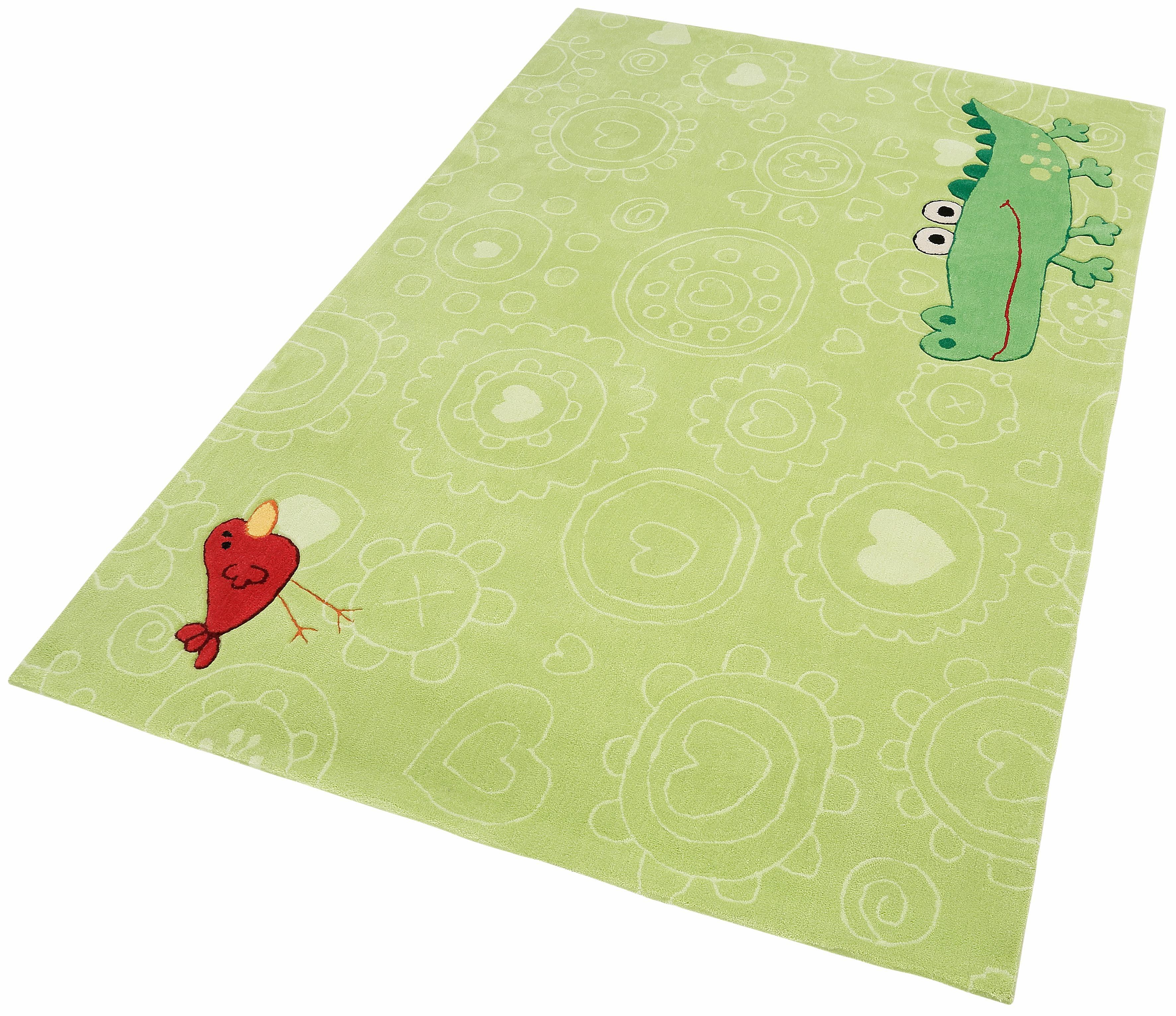 Kinderteppich »Happy Zoo Crocodile«, Sigikid, rechteckig, Höhe 10 mm