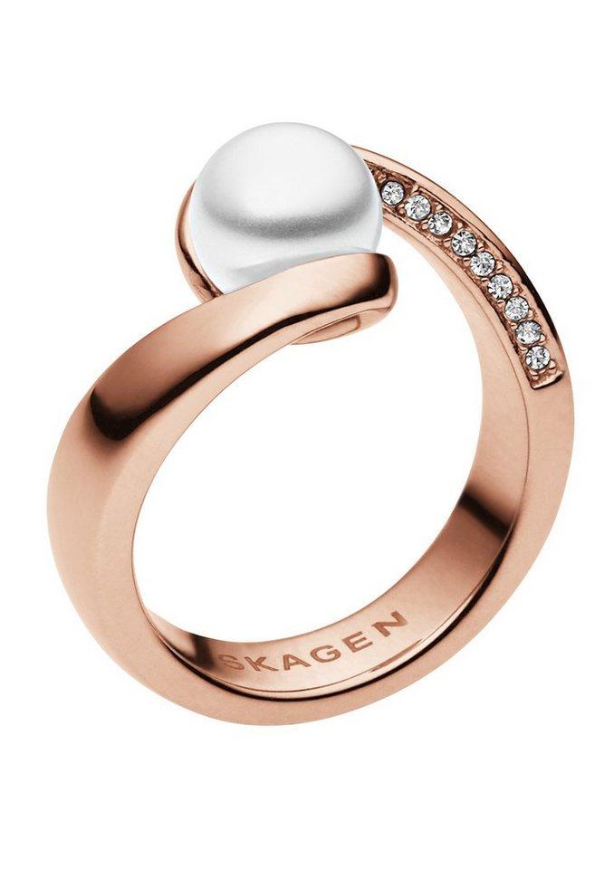 Skagen, Skagen Ring, »Agnethe, SKJ0653791« in roségoldfarben/weiß