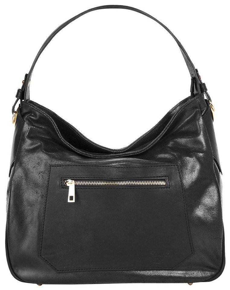 Samantha Look Leder Damen Shopper »Leira« in schwarz