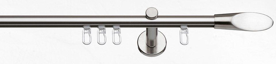 Gardinenstange, Indeko, »Evian«, im Fixmaß, ø 16 mm, mit Innenlauf in edelstahlfarben