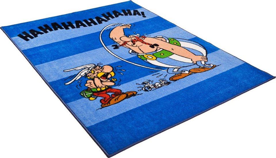 Kinder-Teppich, Asterix, »Die lustigen Gallier« in blau