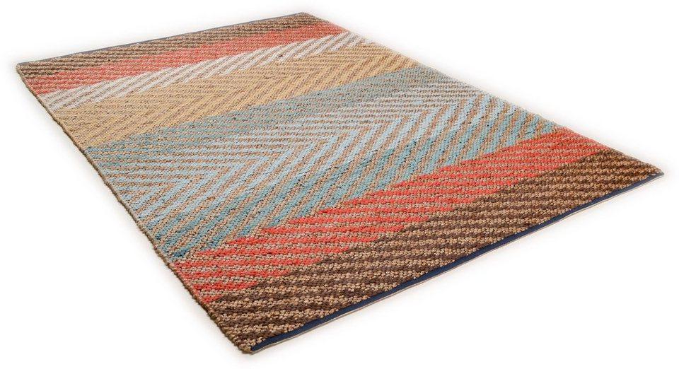 teppich pastel stripe tom tailor rechteckig h he 7 mm. Black Bedroom Furniture Sets. Home Design Ideas