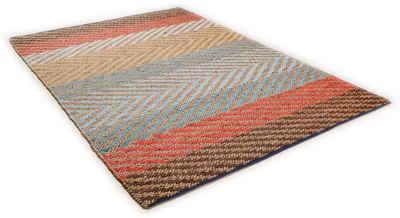 Teppich »Pastel Stripe«, TOM TAILOR, rechteckig, Höhe 7 mm, Flachgewebe, Wohnzimmer