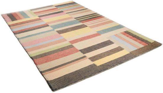 Wollteppich »Patch«, TOM TAILOR, rechteckig, Höhe 6 mm, reine Wolle, Bohostyle, handgewebt, Wohnzimmer
