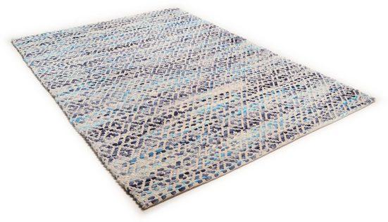Wollteppich »Diamond«, TOM TAILOR, rechteckig, Höhe 8 mm, reine Wolle, Flachgewebe, handgeknüpft, Wohnzimmer