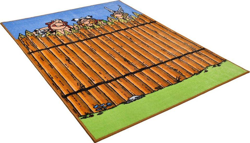 Kinder-Teppich, Asterix, »Die Mauer der Gallier« in braun