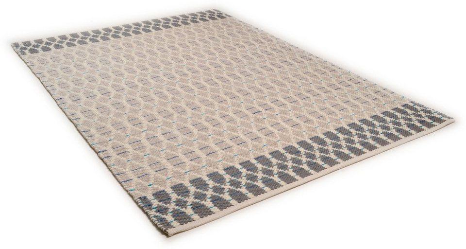 Teppich, Tom Tailor, »Small Pattern«, handgearbeitet, Wolle in blau