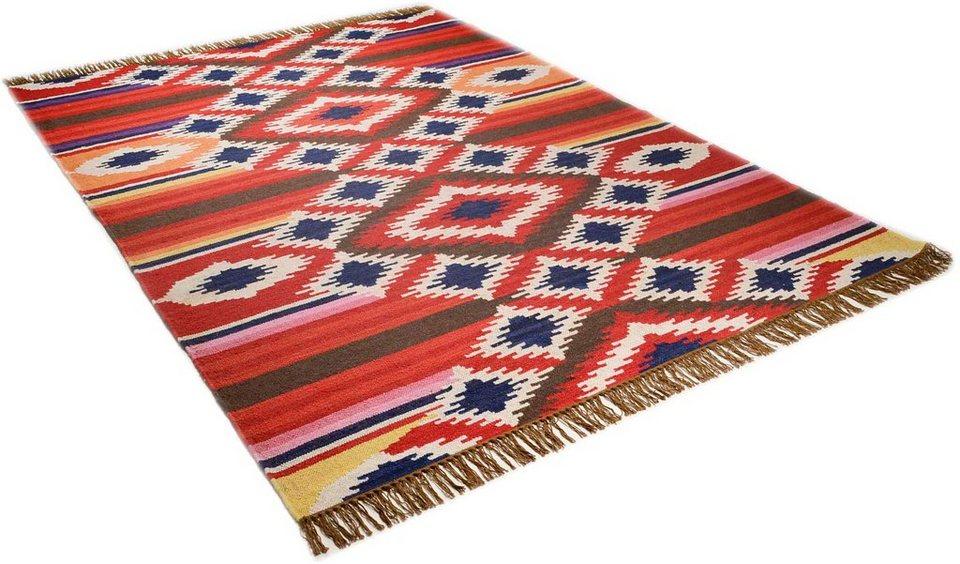 Teppich »Kelim Royal 4«, Theko, rechteckig, Höhe 5 mm in rot