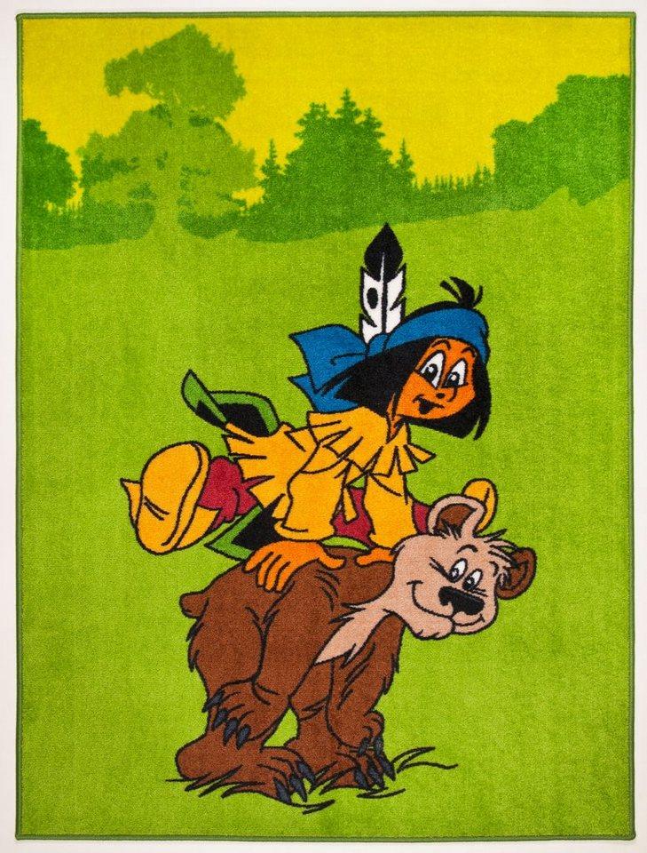 Kinder-Teppich, Yakari, »Yakari und der Bär« in grün