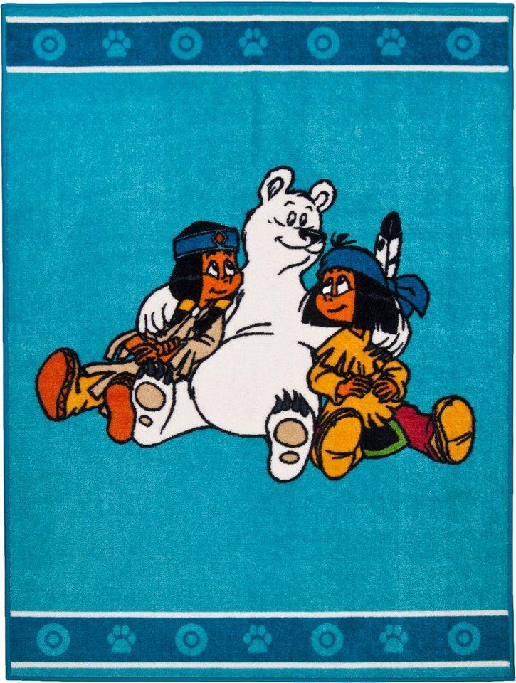 Kinder-Teppich, Yakari, »Yakari und Schneeball« in türkis