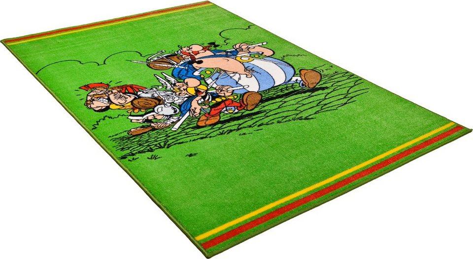 Kinder-Teppich, Asterix, »Sieg gegen die Römer« in grün