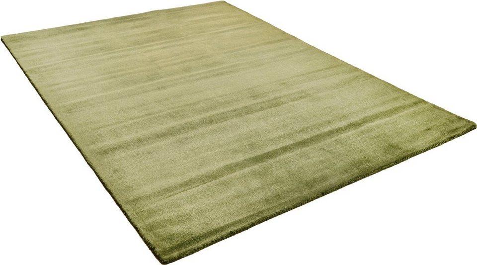 Teppich, Theko Harmony, »Melbourne 1000«, handgearbeitet in dunkelgrün