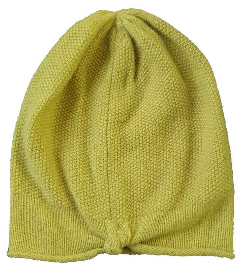 S.Marlon Beanie »S.MARLON Kaschmir-Mütze schicke Damen Beanie im schlichten Look Winter-Mütze Grün«