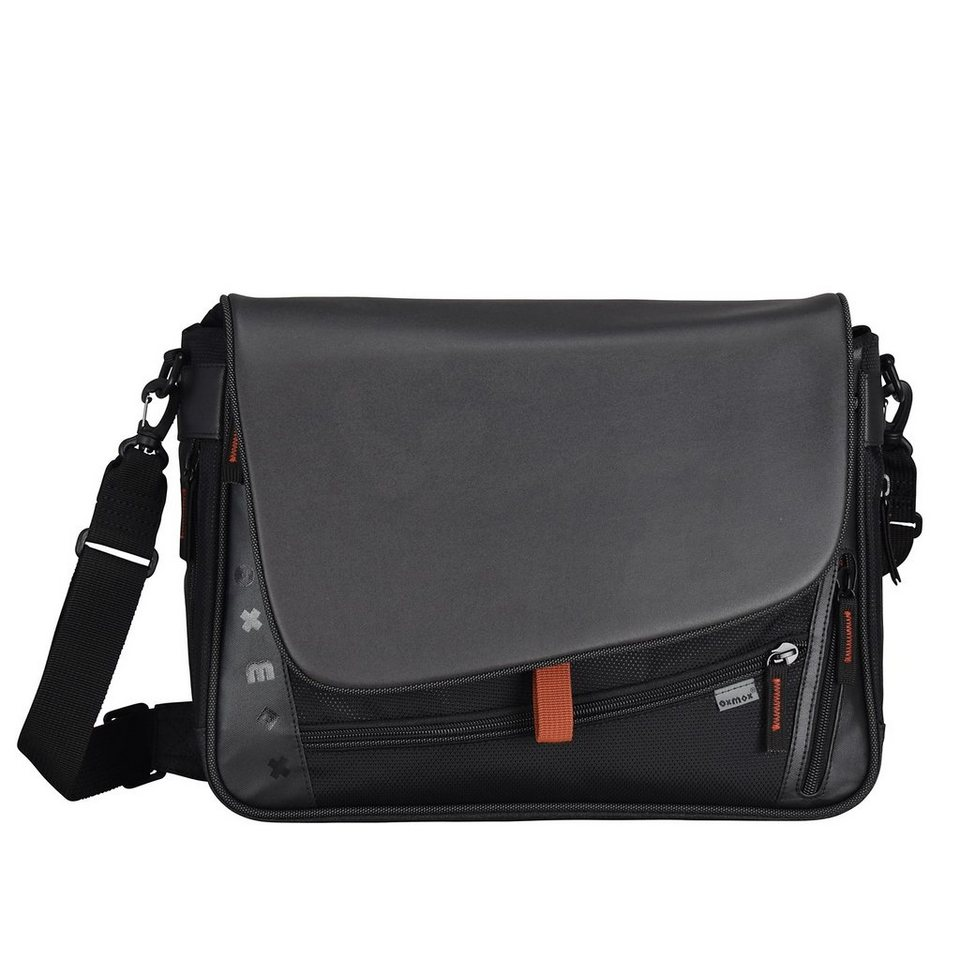 oxmox Touch-It Umhängetasche 39 cm Laptopfach in grau