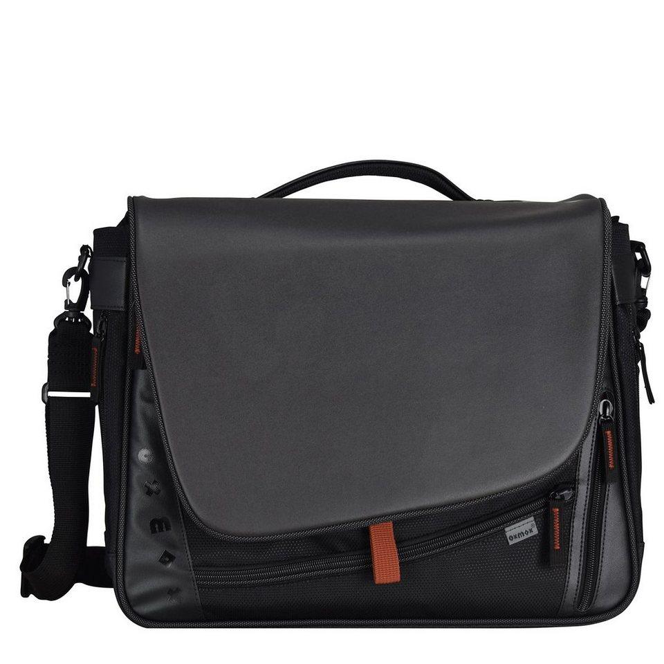 oxmox Touch-It Umhängetasche 41 cm Laptopfach in schwarz