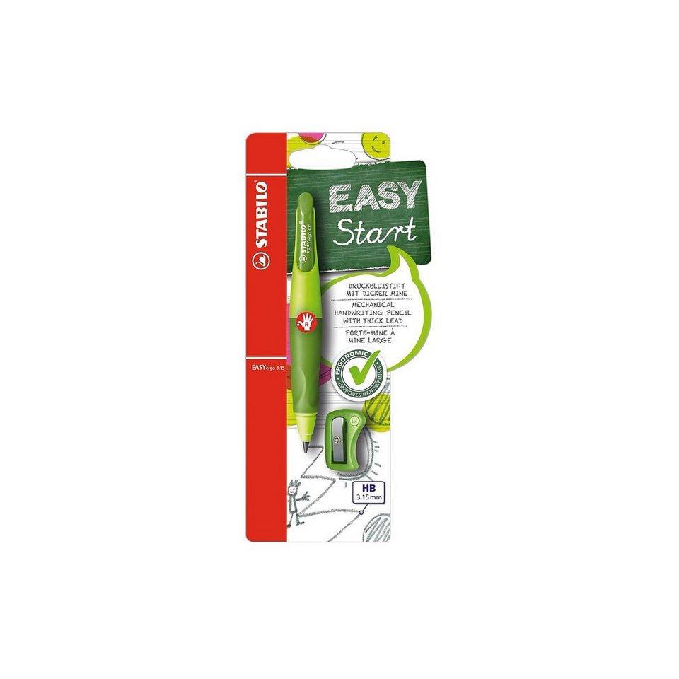 Stabilo Druckbleistift EASYergo 3.15 mm R hell-/dunkelgrün inkl. Spi