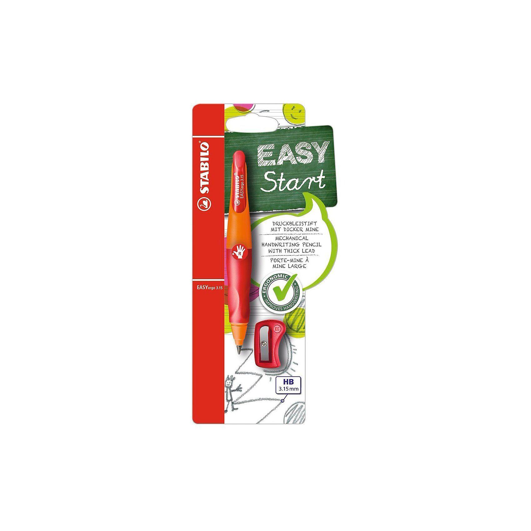 Stabilo Druckbleistift EASYergo 3.15 mm R orange/rot inkl. Spitzer