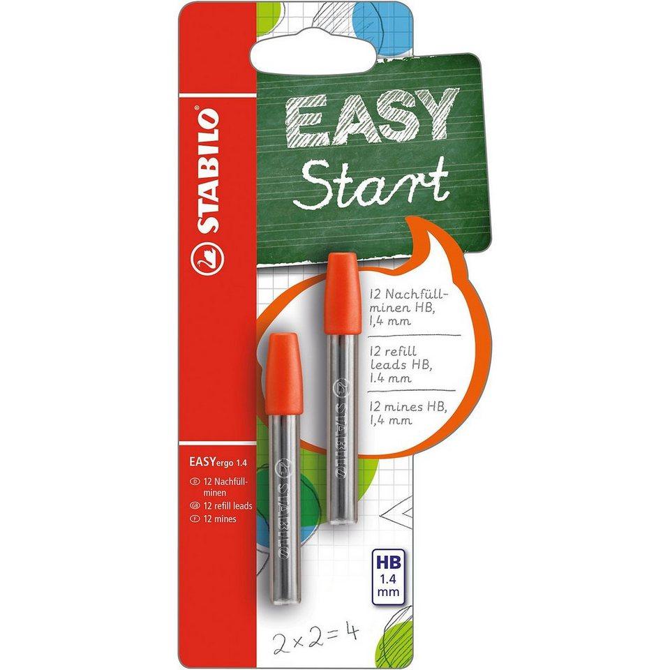 Stabilo Druckbleistift EASYergo 1.4 mm Minen 2 x 6er Minencontainer