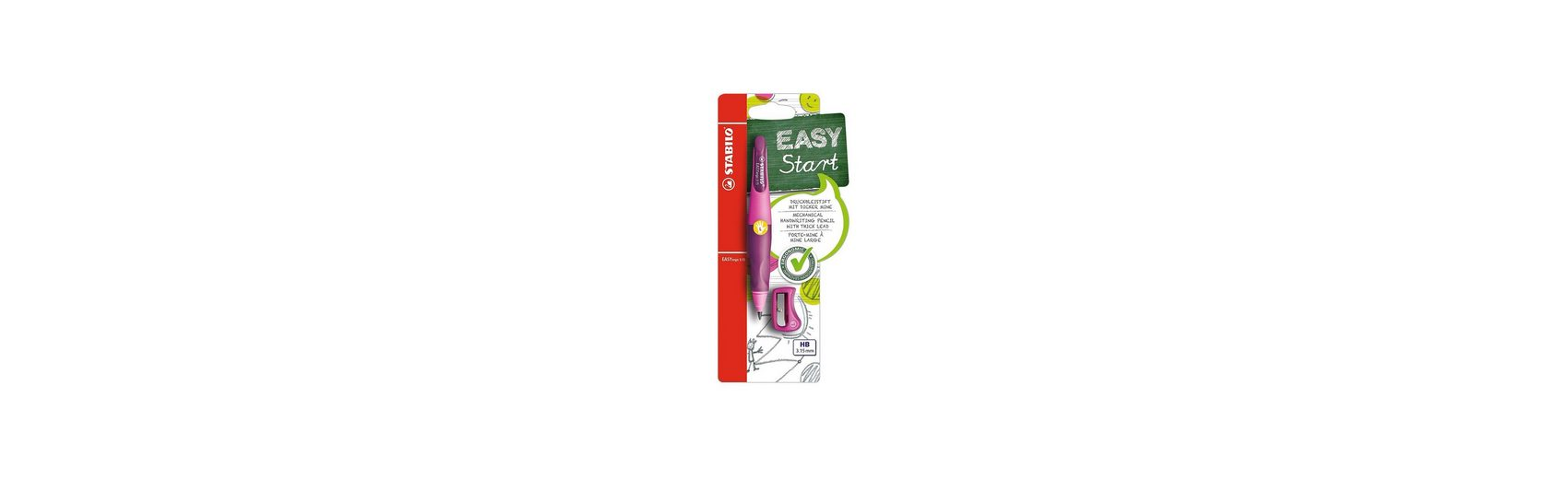 Stabilo Druckbleistift EASYergo 3.15 mm L pink/lila inkl. Spitzer