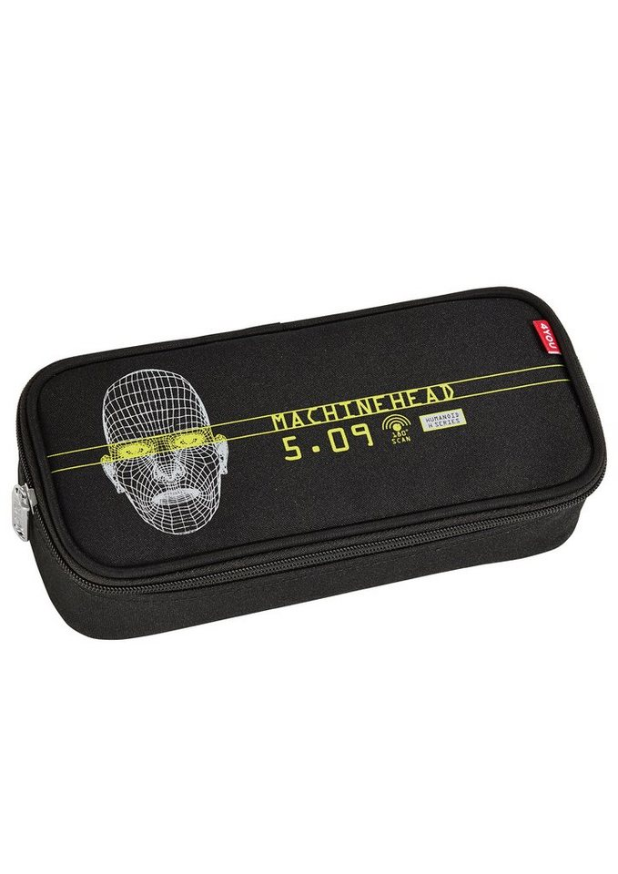4YOU Mäppchen mit Geodreieck®, »Pencil Case - Robot« in schwarz