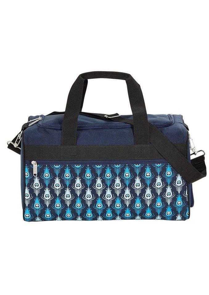 4YOU Tasche, »Freizeittasche M - Peacock Vintage« in blau