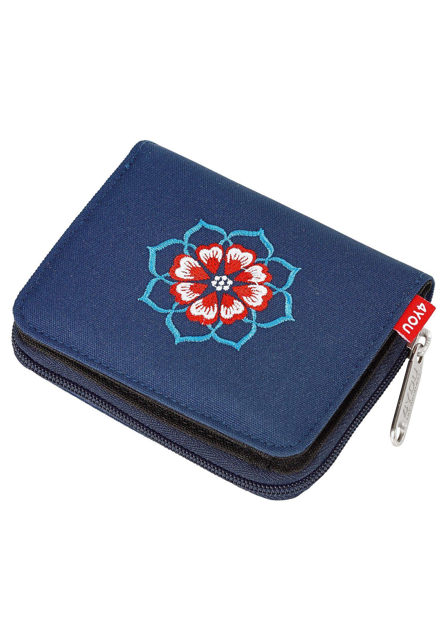4YOU Geldbörse, »Zipper Wallet - Peacock Vintage«