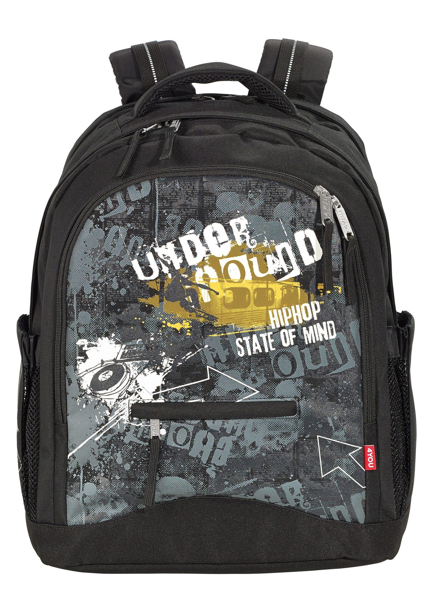 4YOU Schulrucksack, »Rucksack Compact - Under Ground«