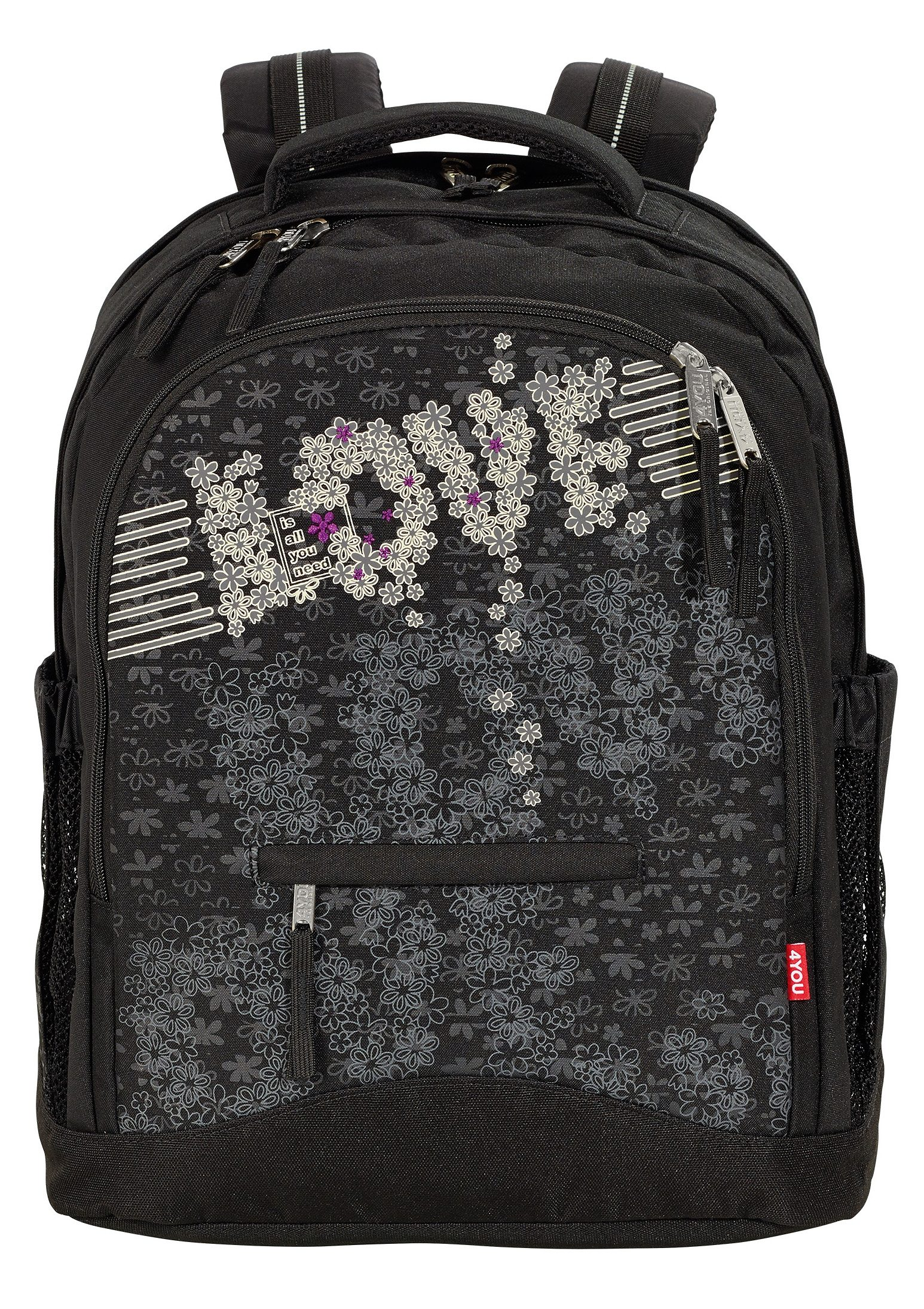 4YOU Schulrucksack, »Rucksack Compact - Love Is All«