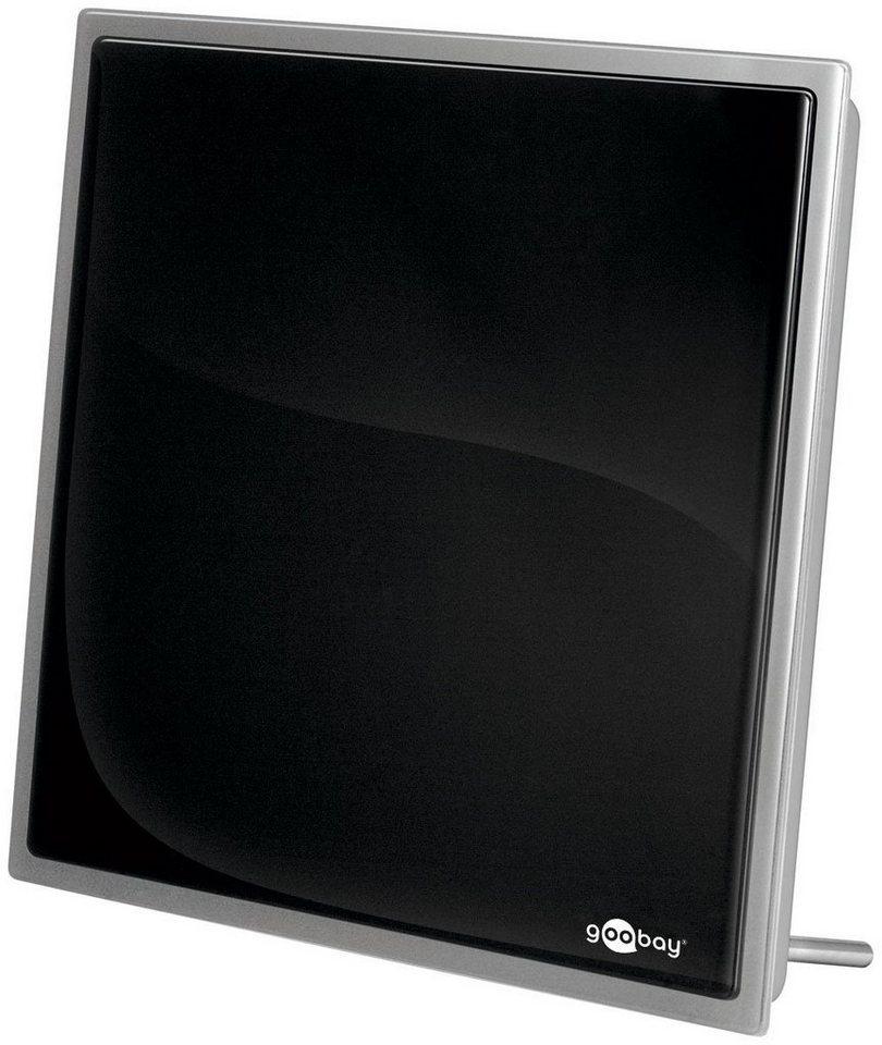 goobay Aktive DVB-T2(HD) Zimmerantenne, inkl. LTE/4G Filter »zum Empfang von DVB-T/DVB-T2« in schwarz
