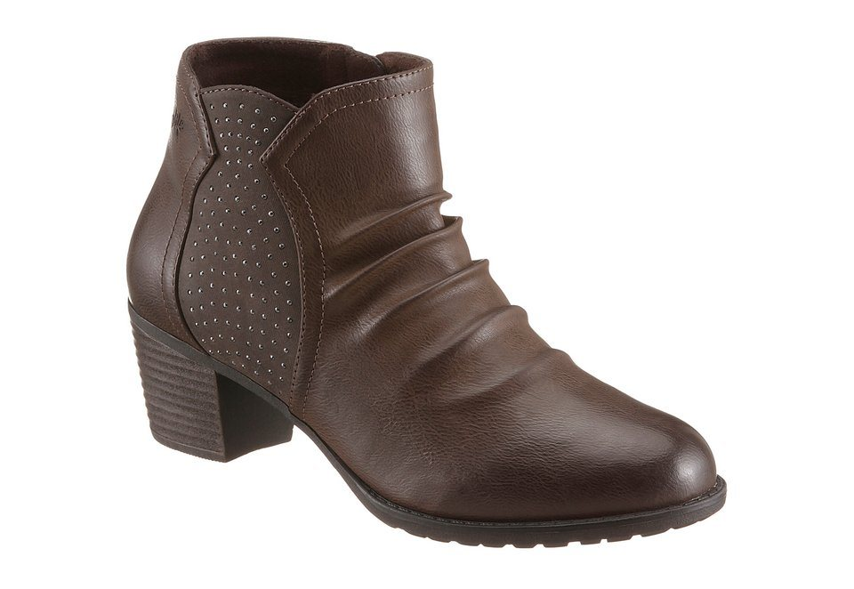 Hush Puppies Stiefelette mit Glitzersteinchen in braun used