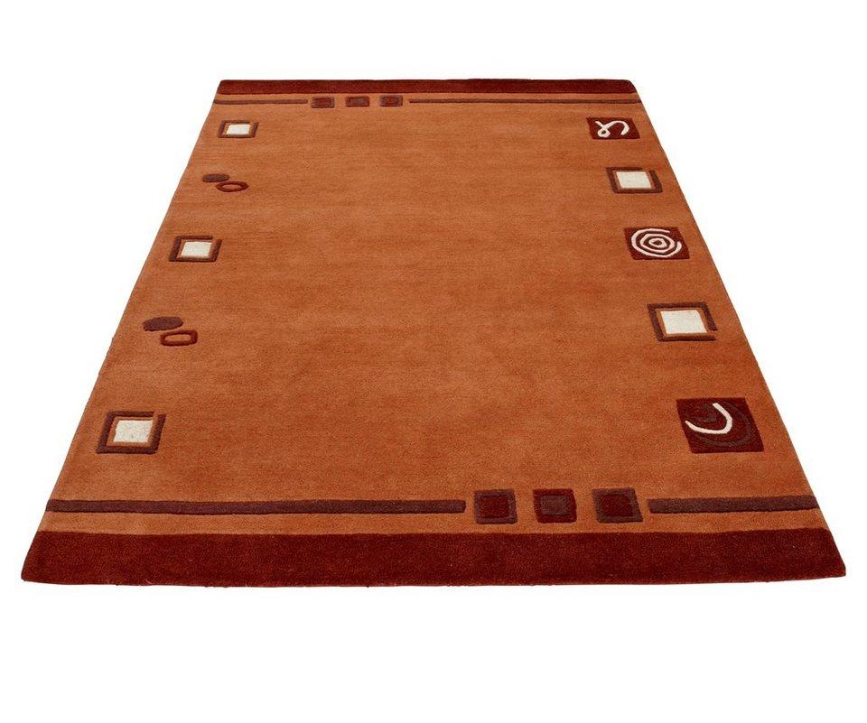 Teppich, Theko exklusiv, »TULSIPUR«, handgearbeitet, reine Schurwolle in terra