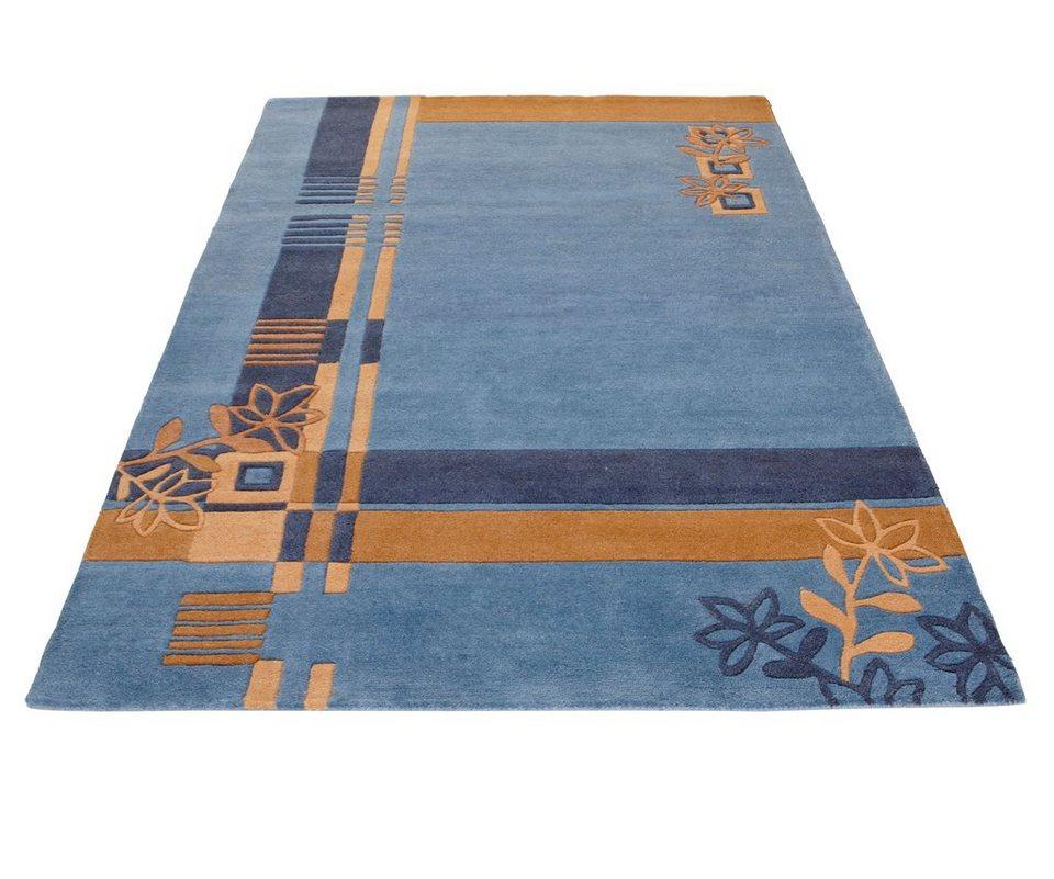 Teppich »Gaur«, Theko exklusiv, rechteckig, Höhe 13 mm in blau