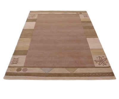 Wollteppich »Estepona«, Theko Exklusiv, rechteckig, Höhe 13 mm, reine Schurwolle, handgetuftet, mit Bordüre, Wohnzimmer