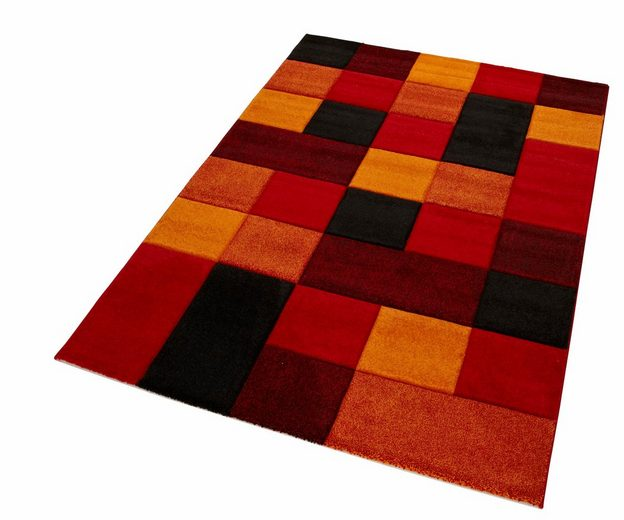 Teppich »DRONNE«, merinos, rechteckig, Höhe 13 mm, handgearbeiteter Konturenschnitt