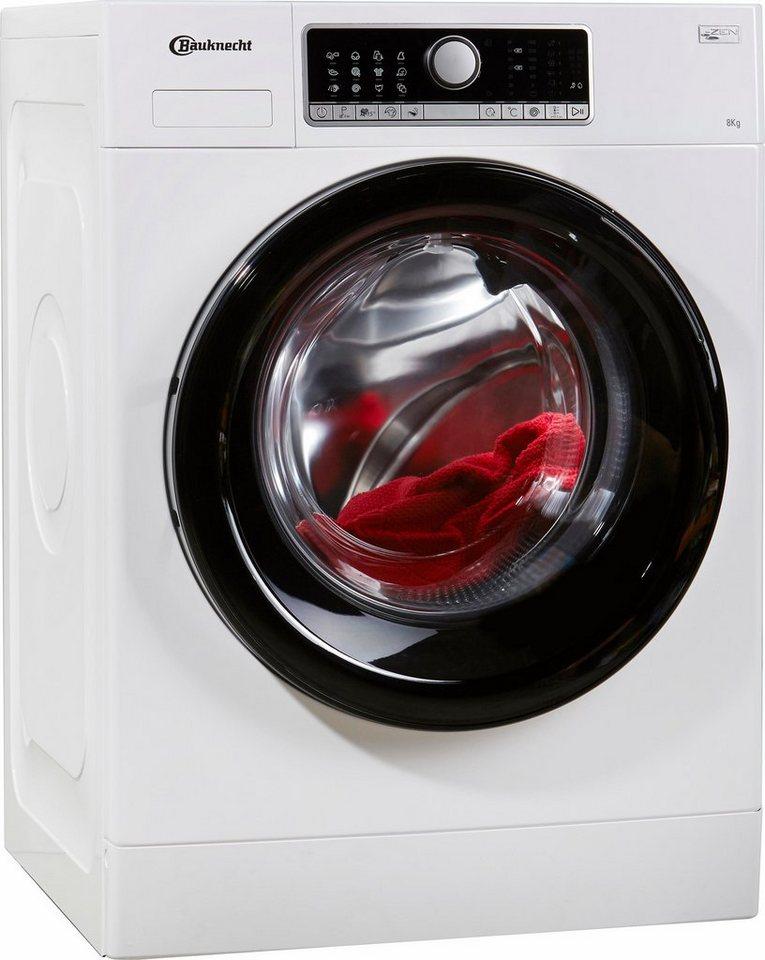 BAUKNECHT Waschmaschine WM Style 824 ZEN, A+++, 8 kg, 1400 U/Min