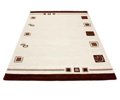 rundes Teppich handgemacht Naturmaterialien