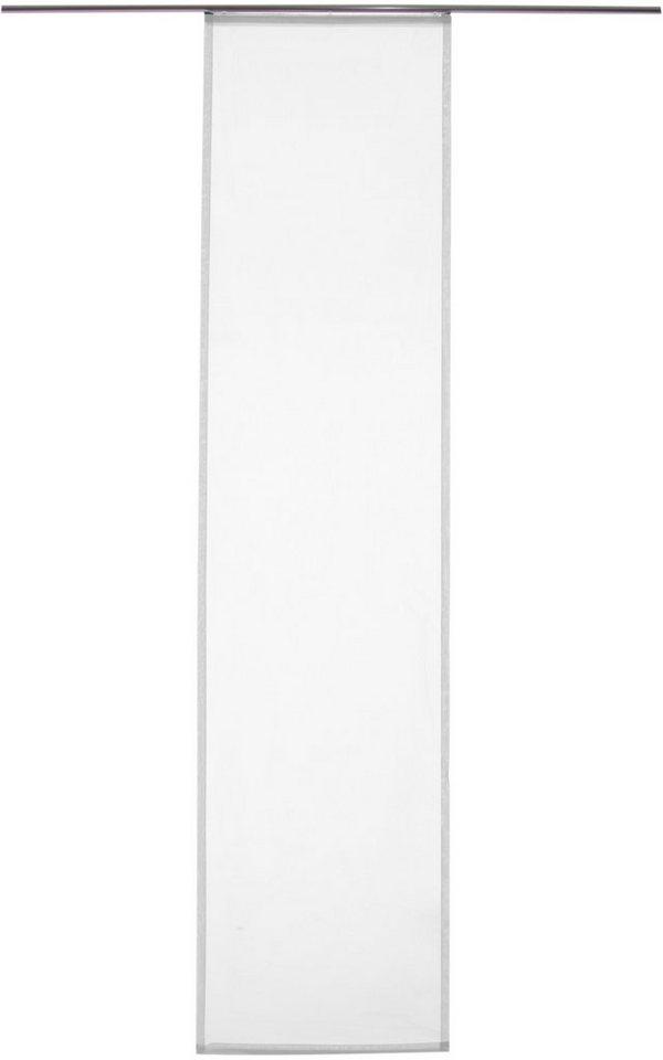 Schiebegardine, Homing, »Batist Uni« (1 Stück mit Zubehör) in weiß