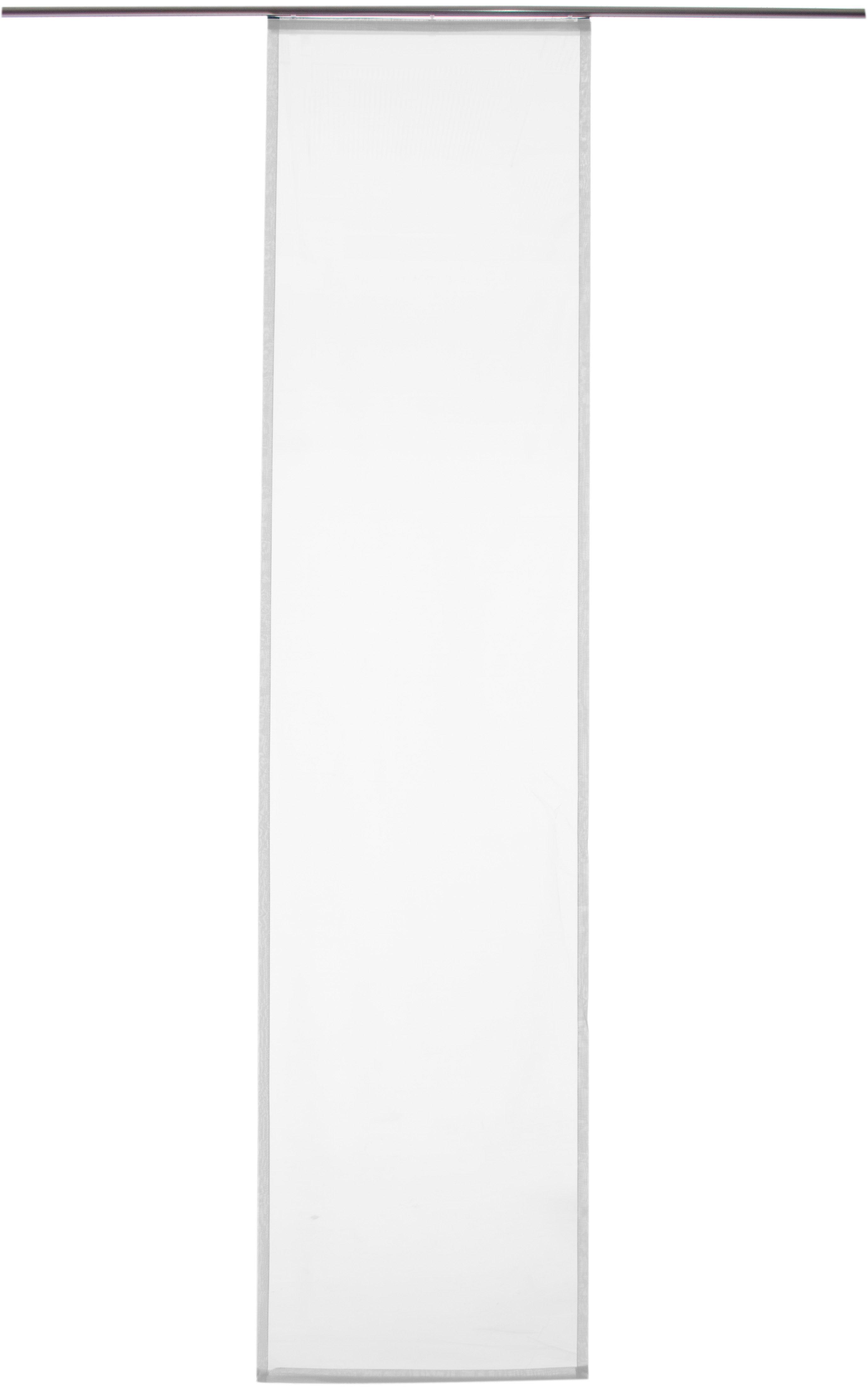 Schiebegardine »Batist Uni«, HOMING, Klettband (1 Stück), inkl. Beschwerungsstange