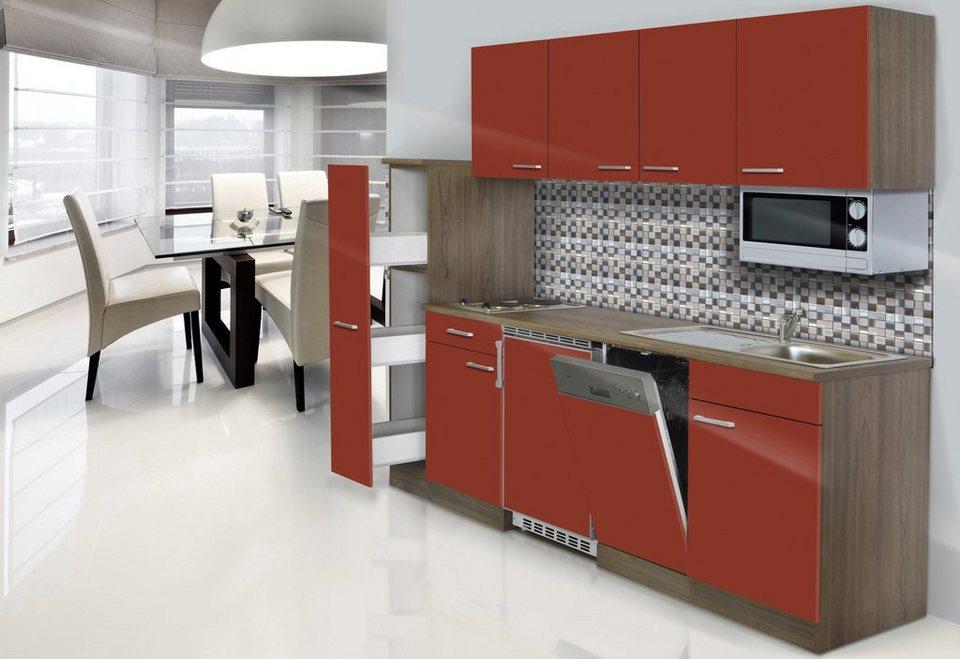 k chenzeile york mit e ger ten breite 225 cm otto. Black Bedroom Furniture Sets. Home Design Ideas