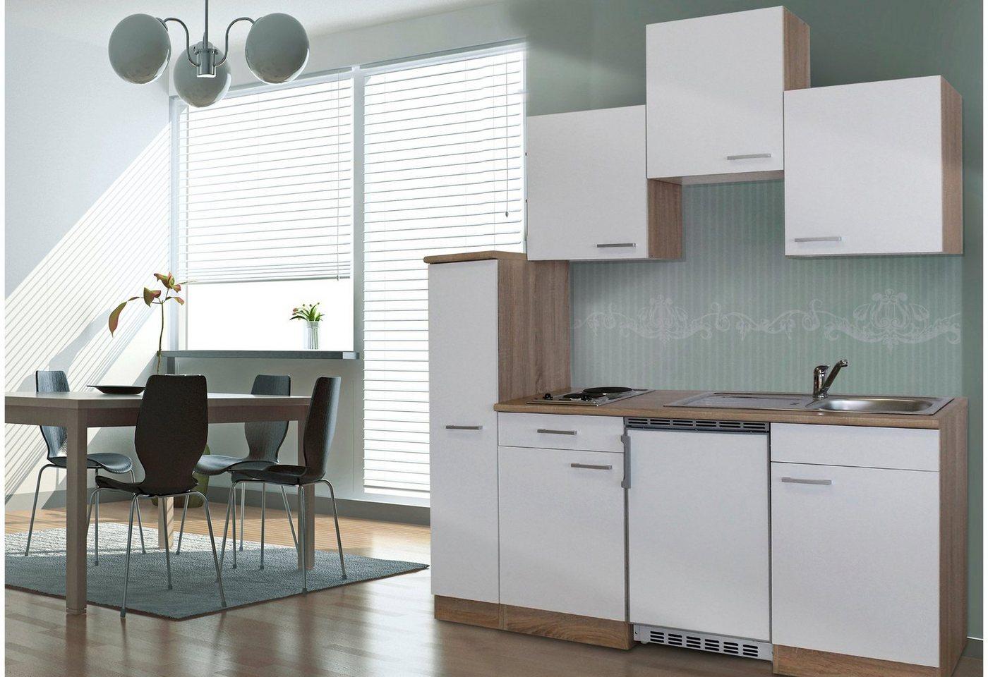 Respekta Miniküche mit E-Geräten, Breite 180 cm | Küche und Esszimmer > Küchen > Miniküchen | Weiß | RESPEKTA