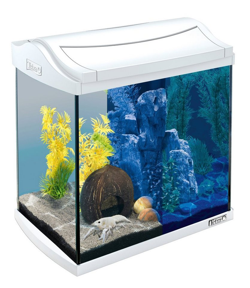 Aquarium »AquaArt LED Discovery Line« 30 l, weiß in weiß