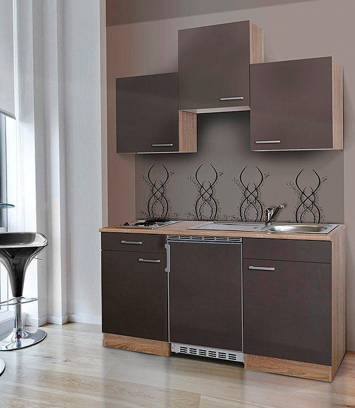 Respekta Miniküche mit E-Geräten, Breite 150 cm | Küche und Esszimmer > Küchen > Miniküchen | Weiß - Schwarz - Rot - Grau - Matt | Holzwerkstoff - Eiche - Kunststoff | RESPEKTA