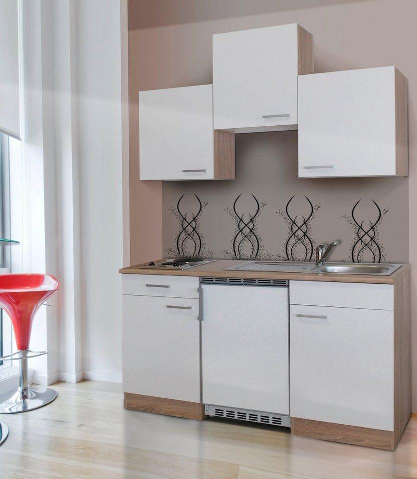 Respekta Miniküche mit E-Geräten, Breite 150 cm | Küche und Esszimmer > Küchen > Miniküchen | Weiß | RESPEKTA