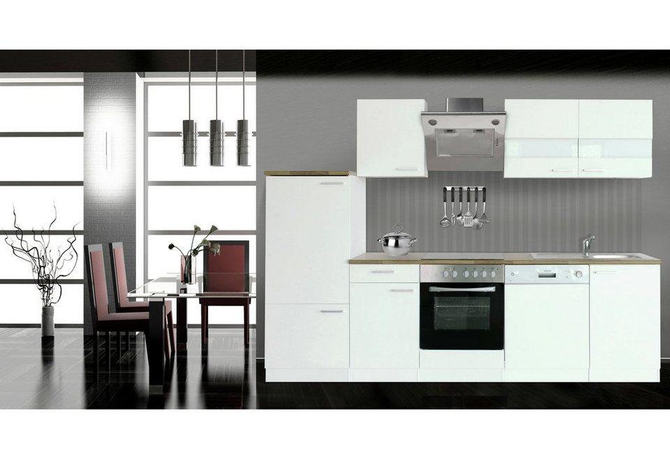 k chenzeile mit e ger ten economy breite 280 cm otto. Black Bedroom Furniture Sets. Home Design Ideas
