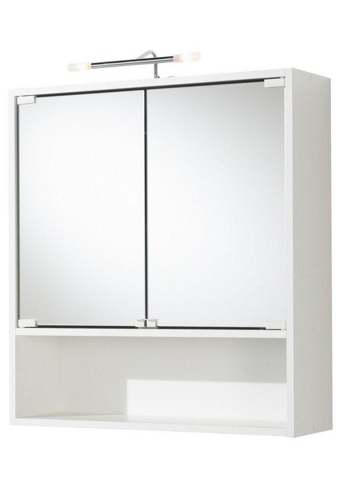 Spiegelschrank »Milano« Breite 65 cm, mit Beleuchtung in weiß