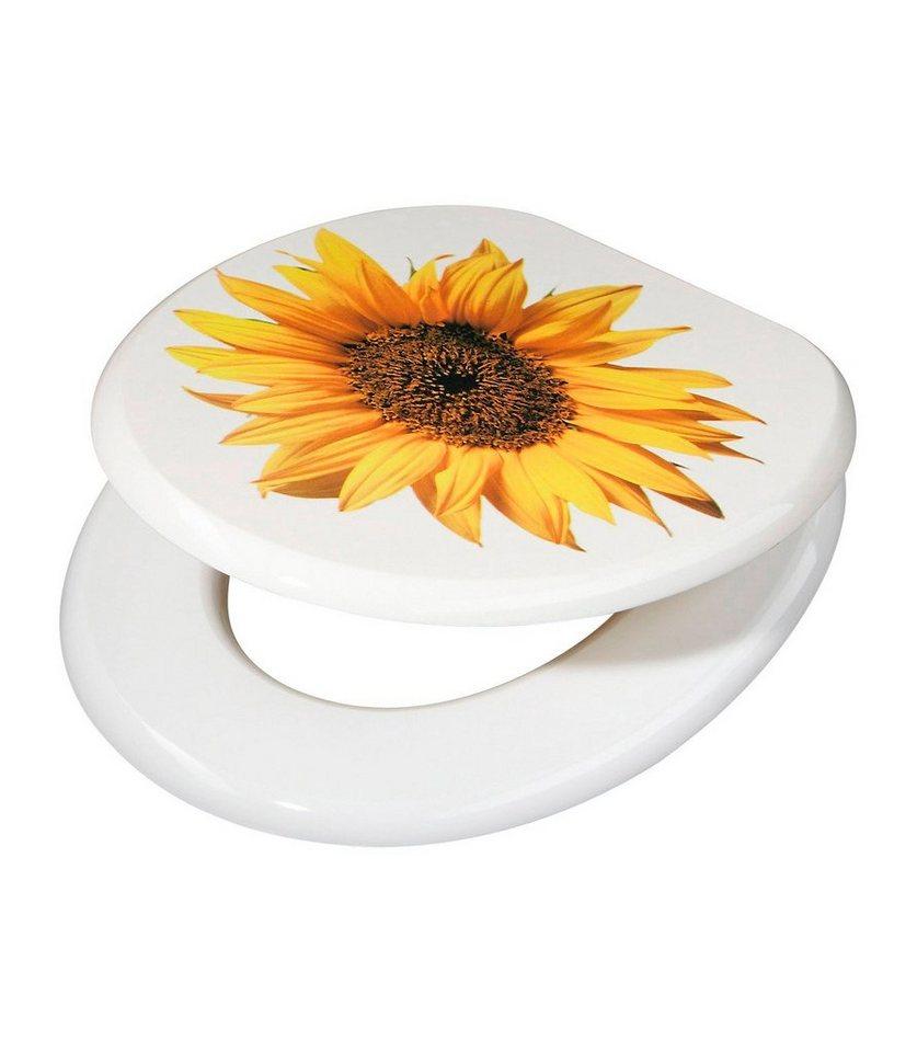 WC-Sitz »Sunflower« in gelb, weiß