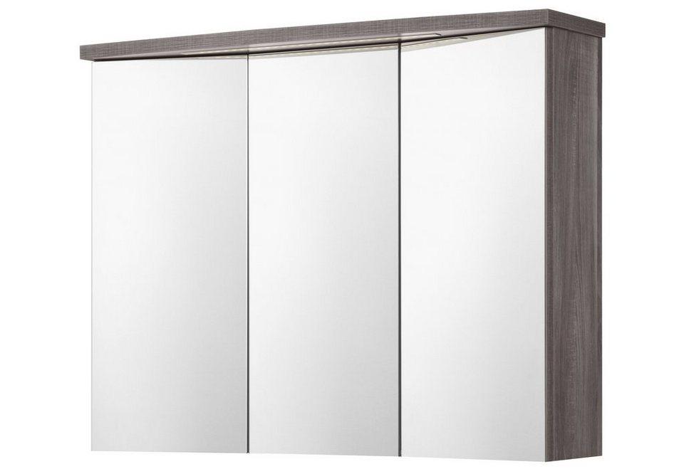 Spiegelschrank »Calla« Breite 90 cm, mit LED-Beleuchtung in eichefarben trüffel