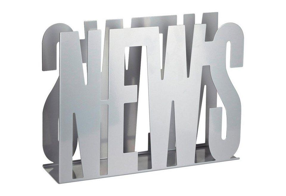 Zeitungshalter »News« in silberfarben