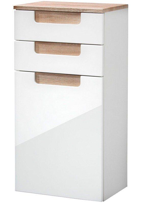 Unterschrank »Siena«, Breite 40 cm in eichefarben/weiß